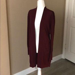 Lightweight Burgundy cardigan